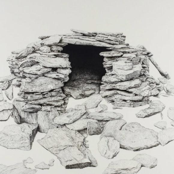 Canillo. Cabana dels clots de la Moscatosa (Pintura acrílica sobre tela)