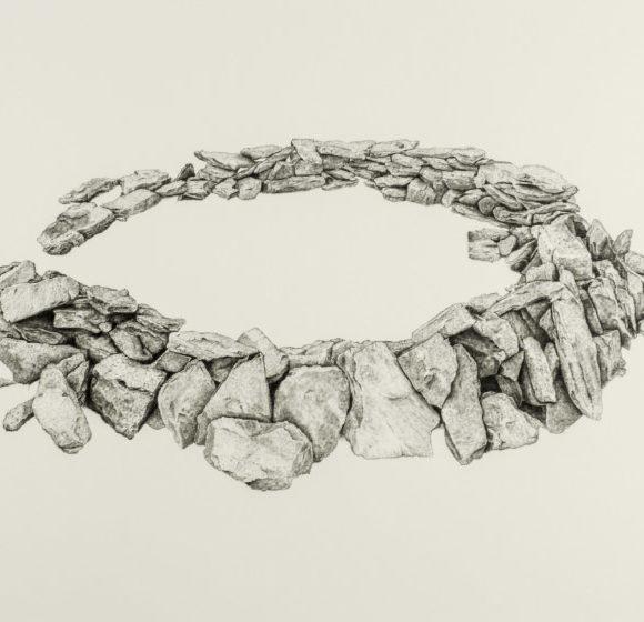 Les Escaldes. Pic de Monturull (Pintura acrílica sobre paper)