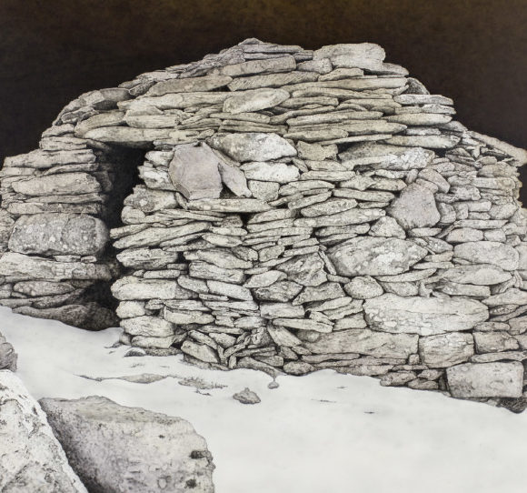 Canillo. Cabana del corral de pedra (Pintura acrílica sobre tela)